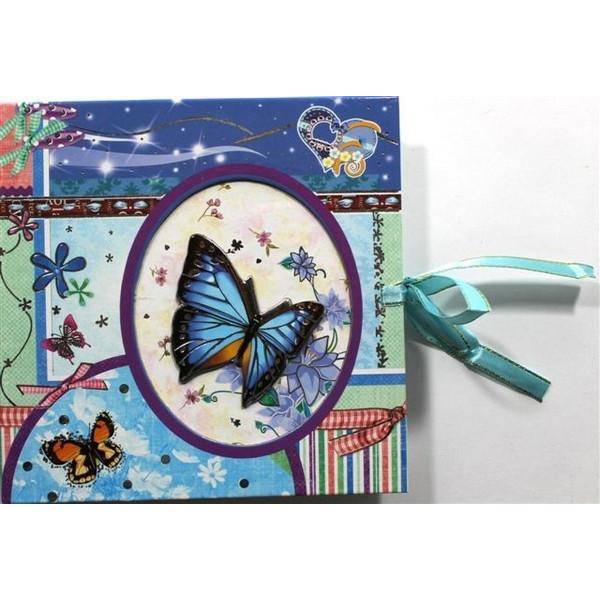 Блокнот на замке в подарочной упаковке   (48К) 0948-01-02 Мишки / Бабочки