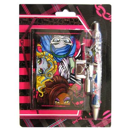 """Блокнот на замке в подарочной упаковке   3644-MS  """"MH"""" + ручка, фото 2"""