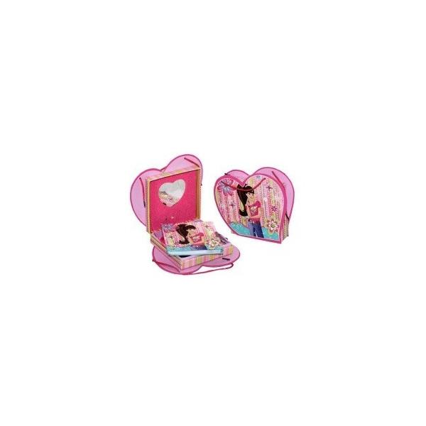 """Блокнот на замке в подарочной упаковке   D480225 (Сумочка) """"Девушка"""" + зеркальце+ музыка"""