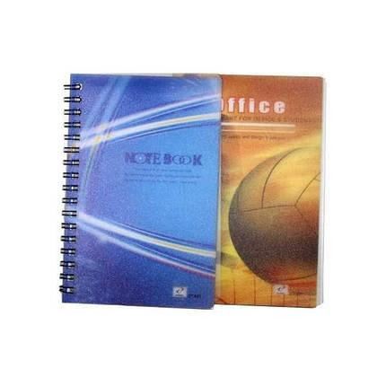 """Блокнот на спирале  A-6 № ZY-501 """"Notebook""""  (боковая спираль 50 листов) ПЛАСТИК, фото 2"""