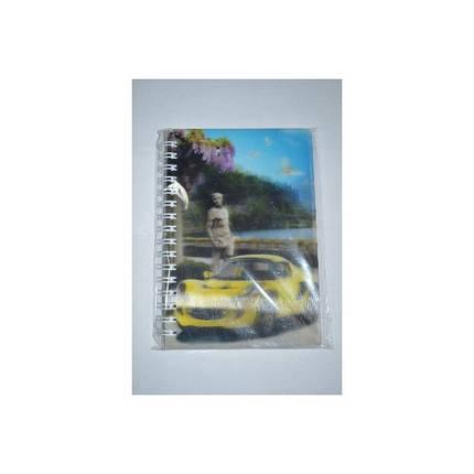Блокнот на спирале  A-6 №_6011/6012  пластиковая обложка (3D/80 листов/10*15) mix видов, фото 2
