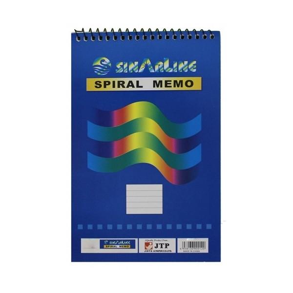 Блокнот на спирале  А-6 50 листов мягкая обложка № SP 08006/03512