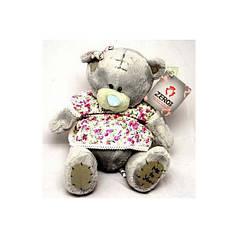 Игрушка №00580 Мишка Тедди в платье (плюшевый) 20 сантиметров