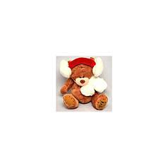 Игрушка №06-3 Мишка (плюшевый)  в наушниках 19 сантиметров / 3вида