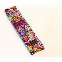 """Цветные карандаши пластиковые 6 цветов  № 1051I-6 """"Бабочки"""" в картонной упаковке европейский стандарт (уп24\480)"""