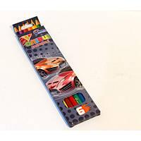 """Цветные карандаши пластиковые 6 цветов  № 1051K-6 """"Drive"""" в картонной упаковке европейский стандарт (уп24\480)"""