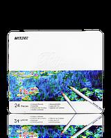 """Цветные карандаши Raffine 24 цвета №7100-24TN """"MARCO"""" (в металлической упаковке) (уп6\36)"""