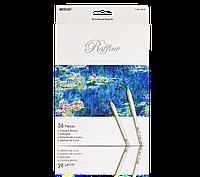 """Цветные карандаши Raffine 36 цветов №7100-36CB """"MARCO""""  (метализированные) (уп4\80)"""