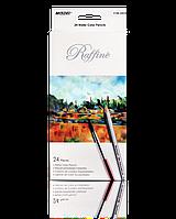 """Цветные карандаши Raffine 24 цвета №7120-24 СВ """"MARCO"""" (акварельные) + кисточка (уп6\120)"""