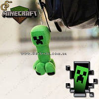 "Плюшевый брелок Крипер из Minecraft - ""Creeper Keychain"" - 14 см., фото 1"