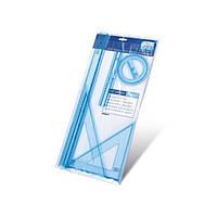 Набор линеек пластиковый №F1-032  ( Линейка - 20см - 50см + 2 треугольника + транспортир)