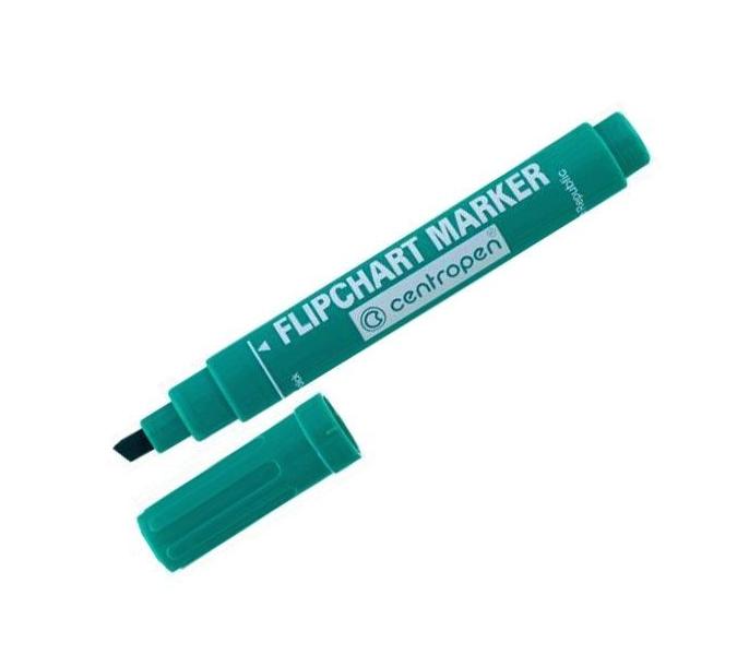 "Маркер ""Centropen"" №8576 (толстый скошеный ) зеленый"