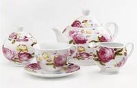 """Чайный набор """"Розы"""" 17 пр. Maestro MR10045-17S"""