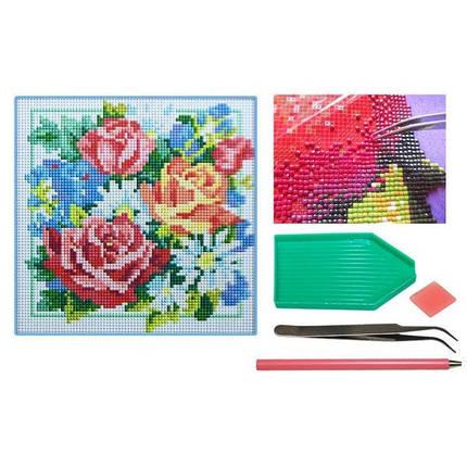 Мозаїка алмазна 5D № Н1408  Розы 25 * 25см, фото 2
