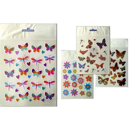 """Наклейка № 6904 /6908 /6910 /69  14*17 """"Бабочки,цветы,ужастики,смайлики"""", фото 2"""