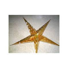 Звезда новогодняя (голограф.Картон с фигурн.высечками) 60 см. №32-07