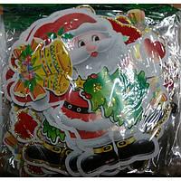 Растяжка № SD22 Дед мороз,колокольчики/без надписи (глитер, флок) 1,6*1,9м