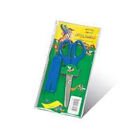 """Ножницы детские """"Пегашка"""" 13.5 см для бумаги в индивидуальной упаковке + пластиковый чехол"""