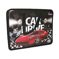 """Папка-портф с ручкой из ткани (пластик) 32*26*7 №S1616 """"Car drive"""""""
