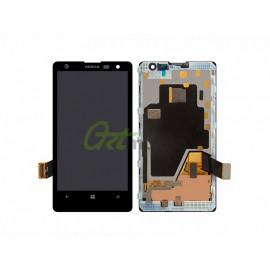 Дисплей для Nokia 1020 Lumia (RM-875) + touchscreen, черный, с передне