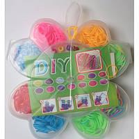 """Детский набор для творчества """"Резинки для плетения"""" №4871 (360шт) 2крюч12зам1рог10бус2подв1инстр"""
