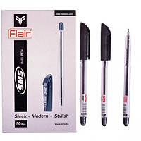 """Ручка масляная шариковая """"Flair SMS"""" черная/50уп,2000ящ"""