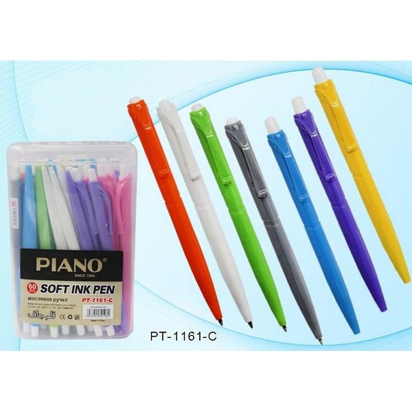 """Масляная шариковая ручка Piano РТ-1161-С-РТ """"Soft ink pen"""" автомат в пластиковом корпусе / 60уп, 2400ящ"""