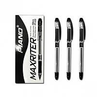 """Масляная шариковая ручка Piano РТ-335 """"Maxriter""""4 км. (черная) 0,5mm."""