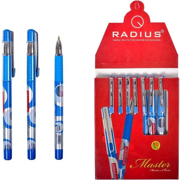 Ручка шариковая  Radius - Master  (уп-10) синяя c  металлическим клипом