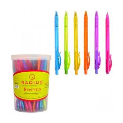 Ручка шариковая  Radius - Reporter  (уп-50)  синий, фото 2
