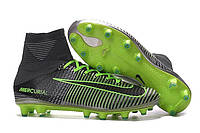 Детские футбольные бутсы Nike Mercurial Superfly V AG-Pro Pure Platinum/Black/Ghost Green