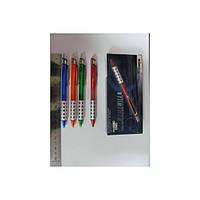 Ручка WZ-2066 Cавтоматическая шариковая(прозрач цветной корпус)