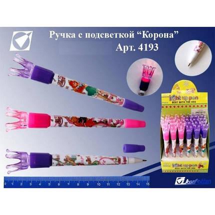"""Ручка шариковая  с подсветкой """"Корона"""" №4193, фото 2"""