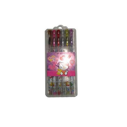 Набор гелевых ручек 12 цветов с блестками HY-006-12    HK (в пластиковом футляре), фото 2