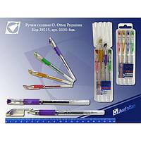 Набор гелевых ручек пластиковый футляр подставка 1038-4 цвета  (XZX-G801-4)