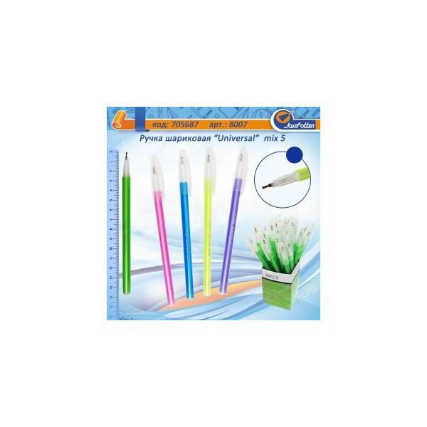 """Ручка шариковая  8007 \ 6021 """"Universal """" (синяя) /150бл, 3000ящ"""