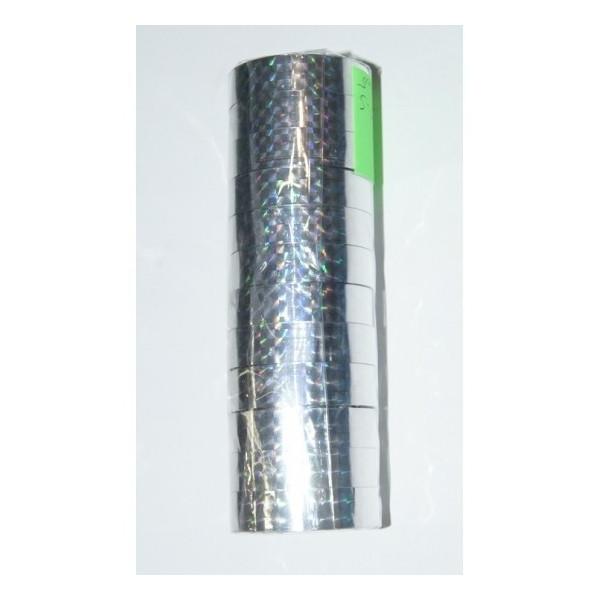 """Скотч голографичный 012-10-S """"Silver"""" (12мм*10m) 12 штук"""