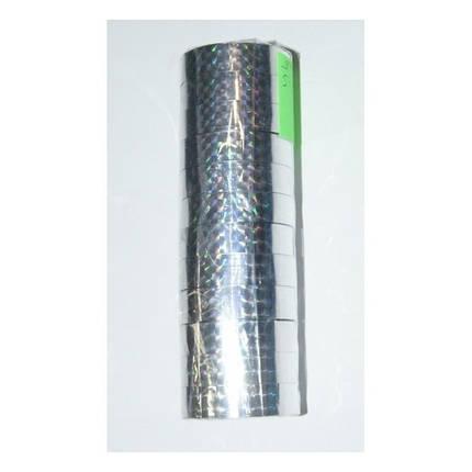 """Скотч голографичный 012-10-S """"Silver"""" (12мм*10m) 12 штук, фото 2"""
