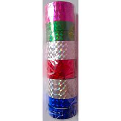 """Скотч голографичный 012-20-C """"Mix of colors"""" 6цв (12мм*20m) 12 штук"""