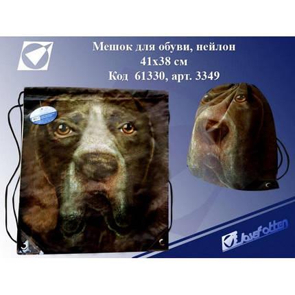 """Мешок-рюкзак № 3349 """"Собака"""" 43*38см, фото 2"""