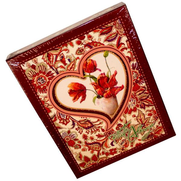 """Фотоальбом №72-29201ВS в коробке""""цветы в сердце"""" (10*15)"""