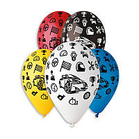 """Воздушные шары """"Машинки"""" 12""""(30см) Пастель Ассорти  В упак:100 шт. Пр-во""""Gemar"""" Италия"""