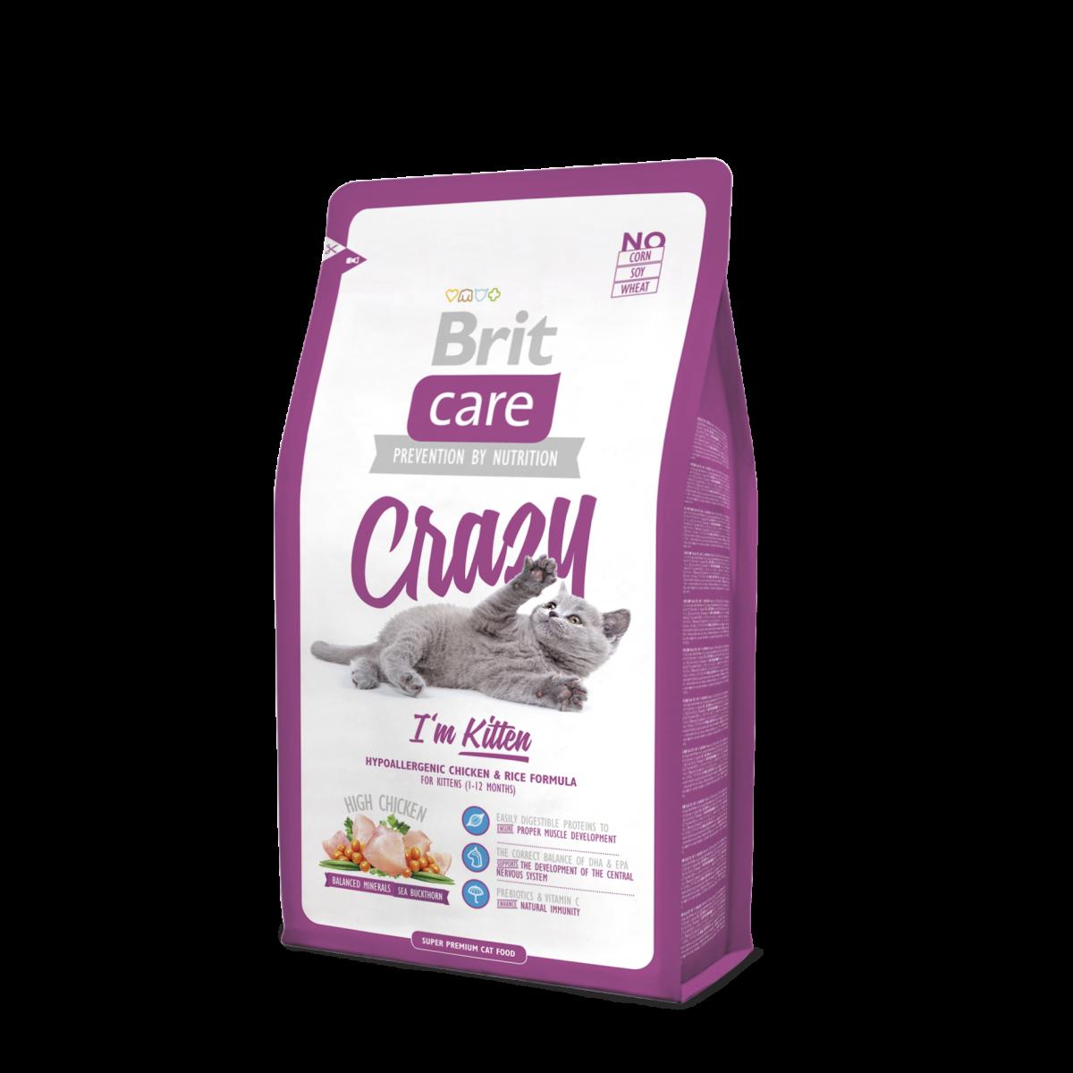 Корм для котят Brit Care Cat Crazy I'm Kitten 7 кг