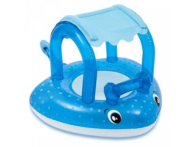 Детский надувной плотик для плавания Intex 56589 Морской скат, с навесом 103 х 77 см
