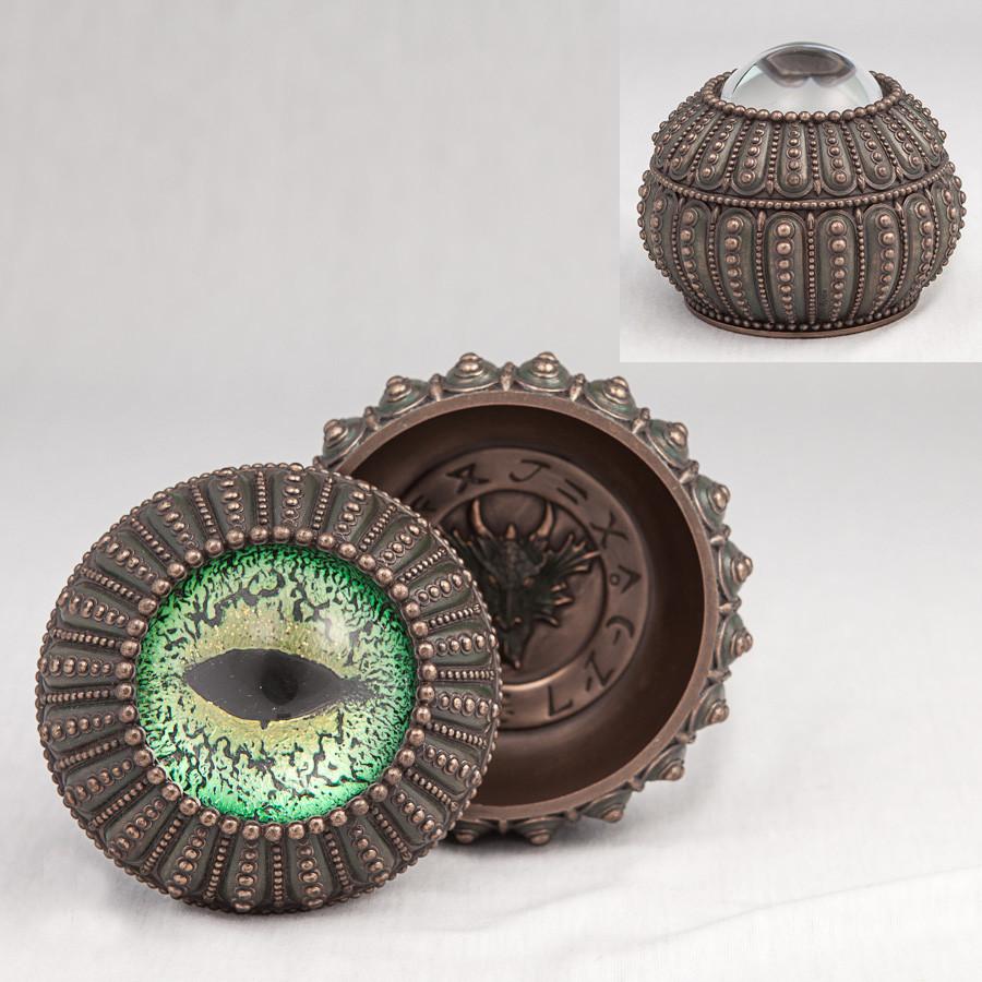 Шкатулка Глаз дракона Veronese Италия (10 см) 75558 A4