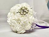 Свадебный букет-дублер для невесты Stile (Фиолетово-белый), фото 3