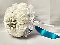 Свадебный букет-дублер для невесты Stile (Бирюзово-белый)