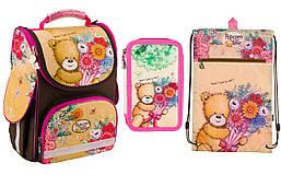 Набор: рюкзак+пенал+ сумка для обуви Kite Popcorn the Bear PO18-501S-2