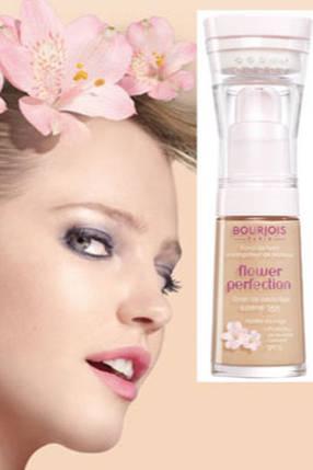 Тональный крем Bourjois Flower Perfection со спонжем , фото 2