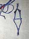 Шлея с поводком One Touch Camon XS синяя, фото 3
